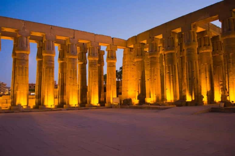 Night View from Luxor Temple