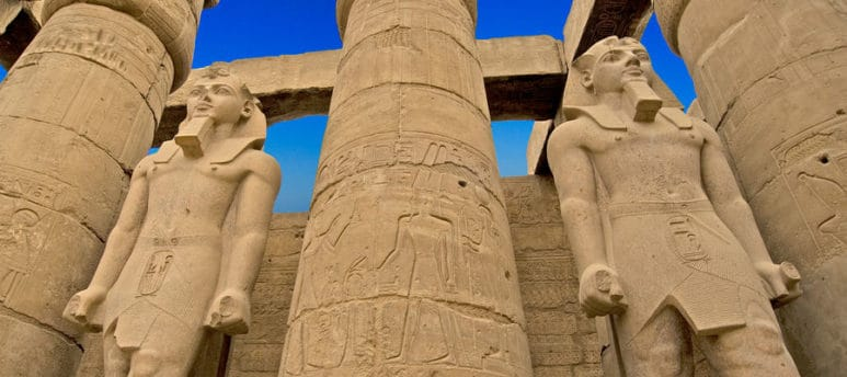 Travel to Egypt and Jordan to discover the history of Luxor temple and Petra