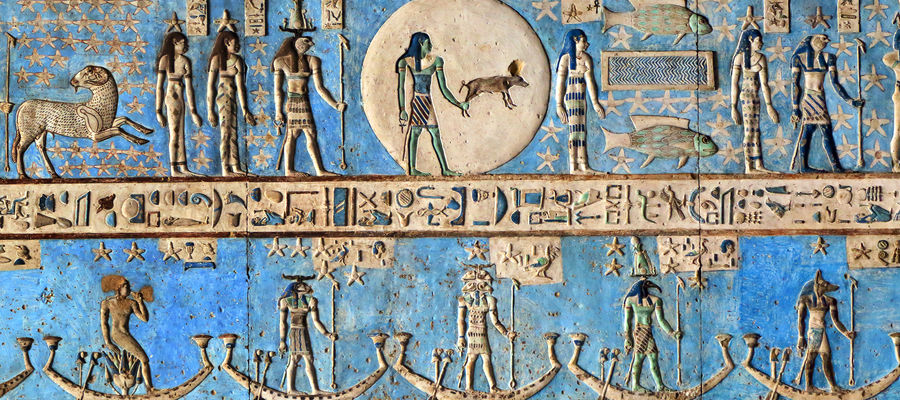egyptian art in temple tour