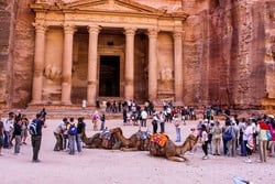 the city of Petra was first established in 312 BC; making it one of the oldest metropolises in the world