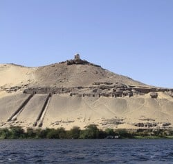 The nobles tombs are located in the west bank of Aswan