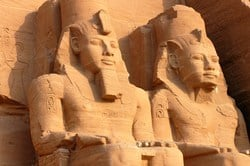 King Ramses II celebrated his love to Queen Nefertari by building her the great temple of Abu Simbel temple in Nubia, south of Aswan. There is no wonder why historians found love poetry written by the king Ramses II for his dead queen in Nefertari's tomb.