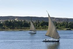 Sailing Boat in Aswan Nile, Egypt