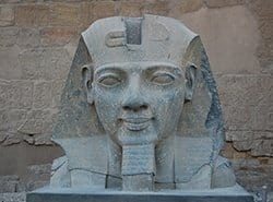 Head of King Ramses II in Luxor Temple, Egypt