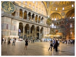 Hagia Sophia is a former Greek Orthodox Christian patriarchal basilica, later an imperial mosque, and now a museum in Istanbul, Turkey.