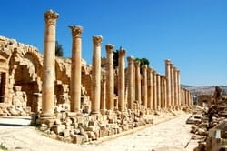 Jerash is one of the world's best-preserved ancient Roman sites. Once known as Gerasa, Jerash is believed that it have been inhabited since the Neolithic Era.