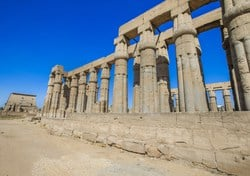Luxor temple is located 2 miles away from Karnak temple. Luxor temple was built for the God Amun Ra and his wife Goddess Mut.