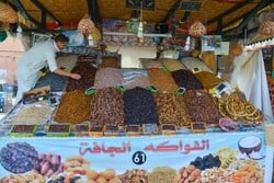 Local fruit market in Morocco
