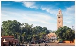 Kutubiyya Mosque is the largest mosque in Marrakesh, Morocco