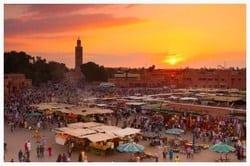 Local Moroccan Souk in Marrakech.