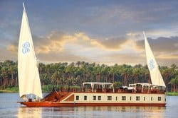 Sonesta Amirat Dahabeya will take you back in time to a gentler, more gracious era in a 7 Nights cruise experience between Luxor and Aswan in a unique trip down the Nile by a traditional, small sailing vessel that was commonly used during those elegant days of the monarchy (1920s – 40s).