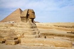 The Sphinx has inspired endless speculation about its age, its meaning and the secrets that it might hold.The Great Sphinx of Giza was constructed in the 4th Dynasty (2575 – 2467 B.C by the Pharaoh Khafre