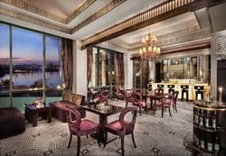 The Fairmont Nile City is one of the most luxurious hotels in Cairo, located right by the River Nile.