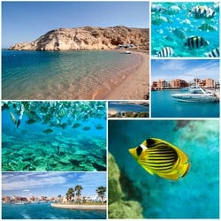 The beauty of Sharm Elsheikh. The beautiful city located by the Red Sea