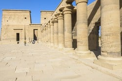 Temple of Philae on the island of Agilika in Aswan