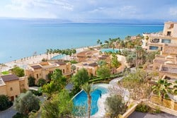 the length of the Dead Sea is 42 miles and 11 miles wide at its widest point
