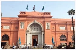 The Egyptian Museum, Home of King Tut. The Egyptian museum holds more than 120,000 pieces of monuments.
