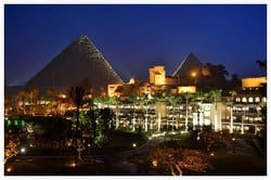 The Great Pyramids View from Mena House Hotel