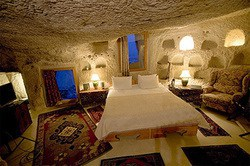Situated in a very special geographic region in Cappadocia, the Museum Hotel has been designed and created from the historical features and ruins, some intact and some beautifully restored to their original glory