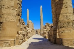 These huge structures were cut from one huge piece of incredibly heavy stone to guide the people to the place of the God. The Obelisks were brought from the granite quarries in Aswan (140 miles south of Luxor).