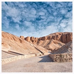 The Valley of the Kings in the West Bank of Luxor. Here is where the tomb of King Tut was built.