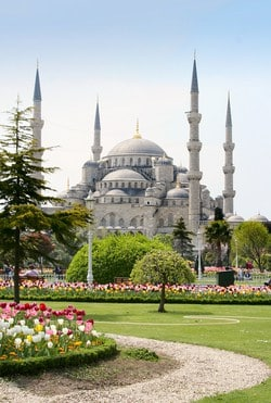 The Sultan Ahmed Mosque or Sultan Ahmet Mosque is a historic mosque in Istanbul, Turkey. The mosque is popularly known as the Blue Mosque for the blue tiles adorning the walls of its interior