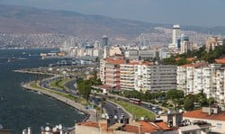 Izmir is a city on Turkey's Aegean coast. Known as Smyrna in antiquity, it was conquered by Alexander the Great and the Ottoman Empire, and retains landmarks from its long, rich history