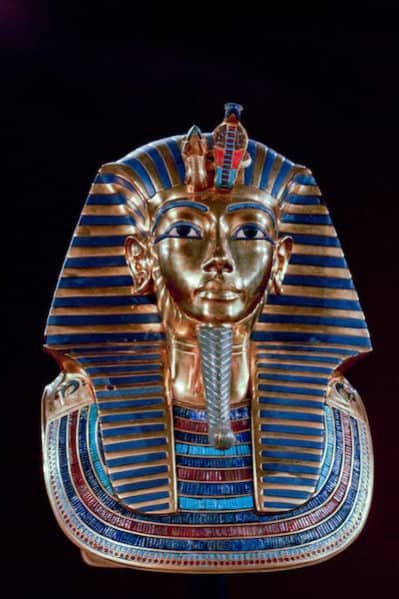 King Tut, the boy King who ruled Egypt when he was 9 and died when he was 18 years old.