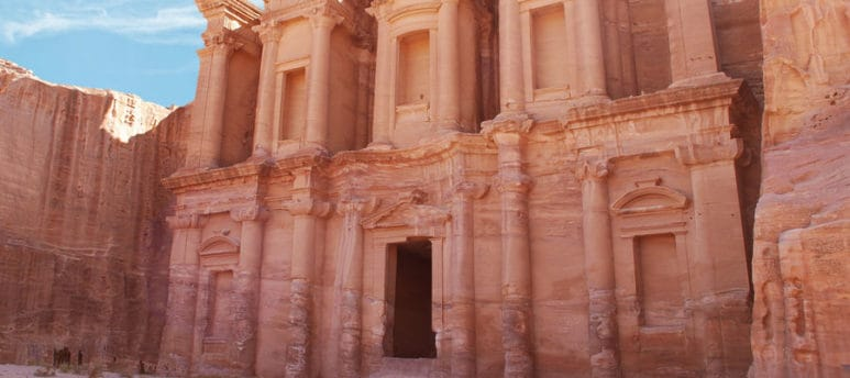 In Petra where King Aretas called for the arrest of the biblian Apostle Paul after he was converted into Christianity