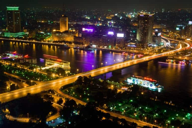 Cairo at Night, Cairo is one of the most famous Egypt destinations for visitors who are looking to visit the Great Pyramids