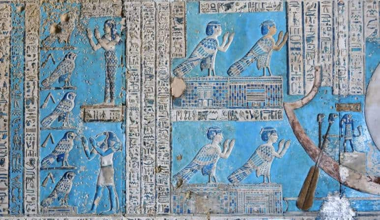 Ancient Egyptian Reliefs from Dendara Temple, Temple of goddess Hathor