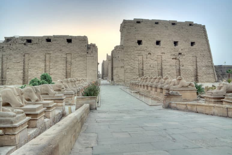 Entrance to the temple of Karnak, Luxor, Egypt