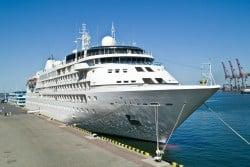 Cruise ship waiting in Alexandria, Egypt
