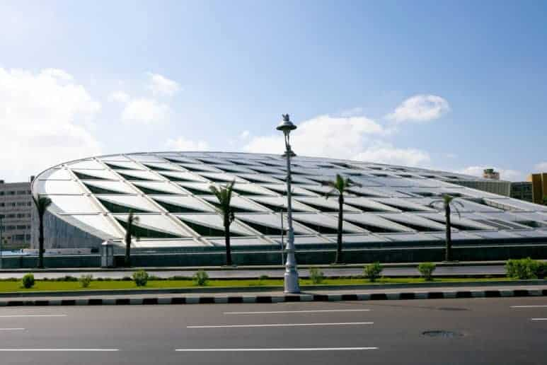 The Bibliotheca Alexandrina was inaugurated in 2002 near the site of the old library.
