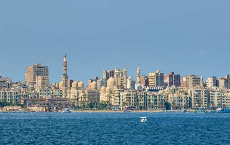 View of Alexandria city from the Sea