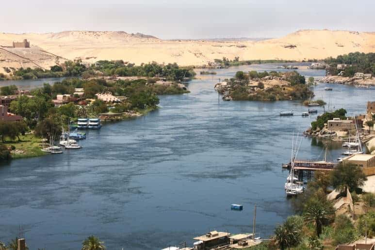 The River Nile in Aswan, Egypt
