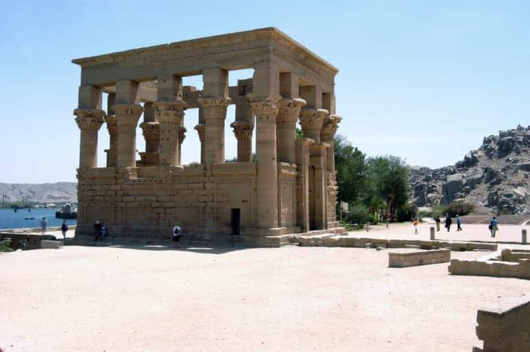 Ancient Ptolemy Temple on the island of Philae, Aswan