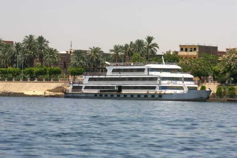 A Nile cruise ready to sail down the Nile. Best part to do while traveling in Egypt