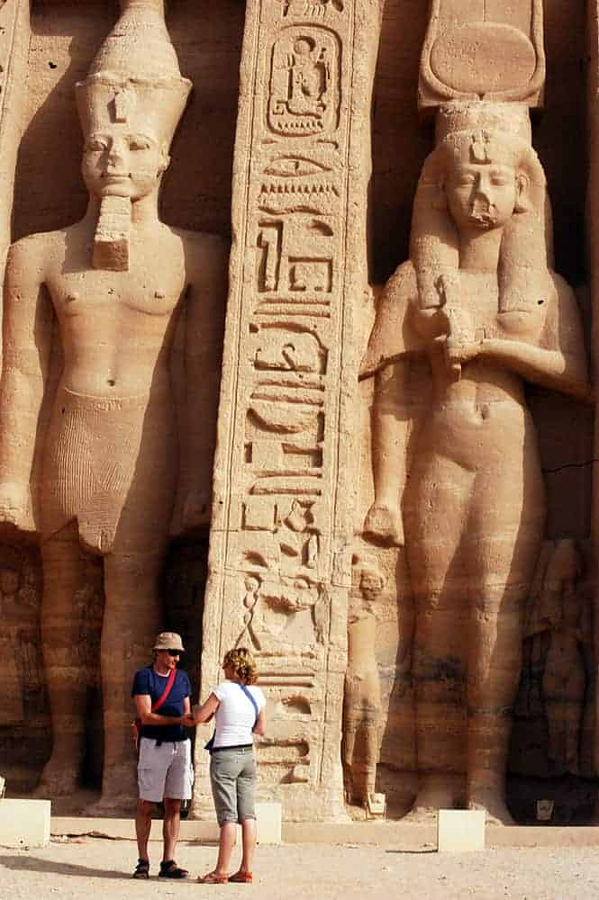 The statue of Ramses II at the Great Temple of Abu Simbel