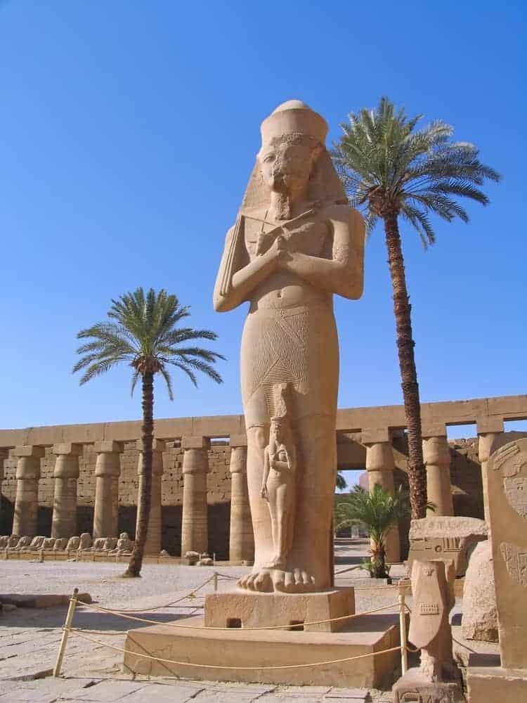 King Ramses II in Karnak Temple