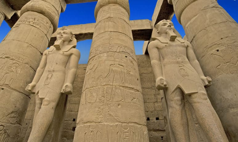 Statue of Ramesses II at Luxor Temple in Egypt