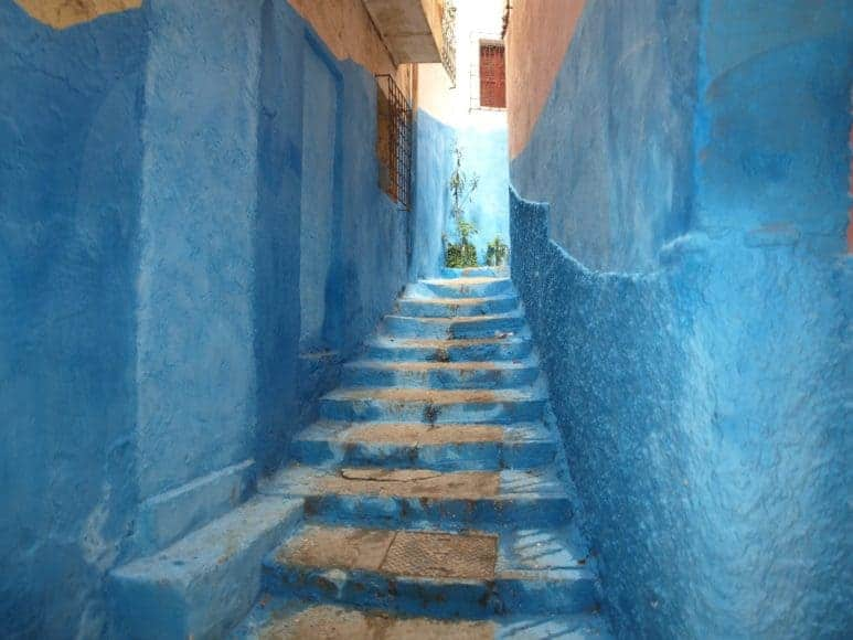 The beautiful blue streets of Chefchaouen