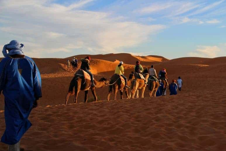 Camel ride in Chefchaouen
