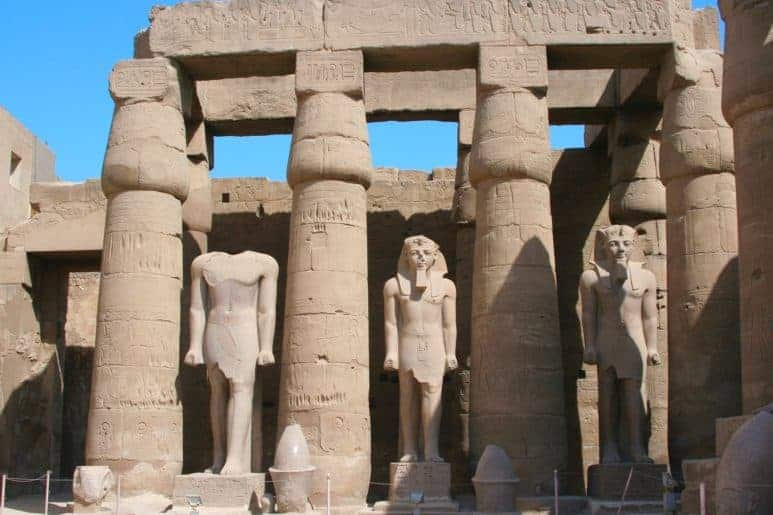 King Ramses II in Luxor Temple