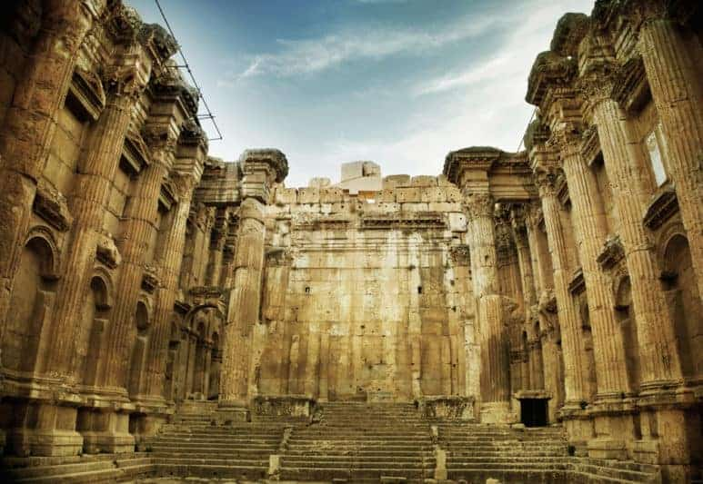 Old Roman Temple In Baalbek, Lebanon