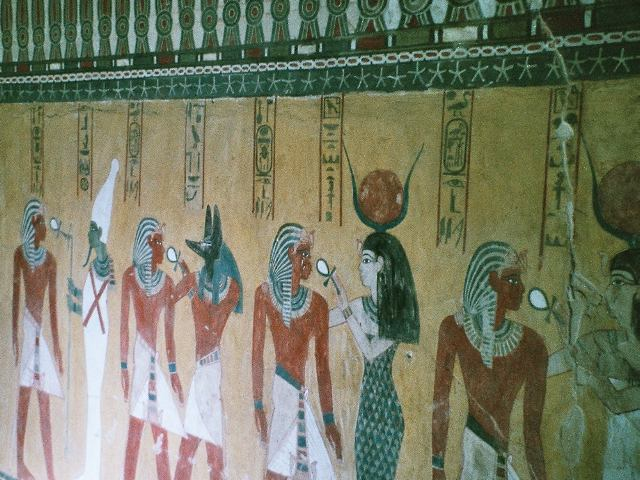 Amazing paintings in the Valley of the Kings