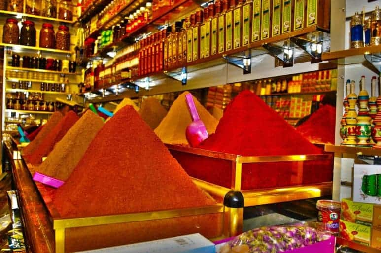Spices shopping in Marrakesh
