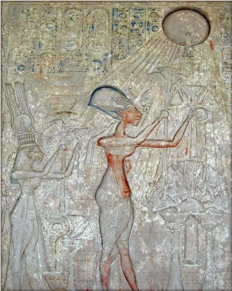 Queen Nefertiti and God Aten