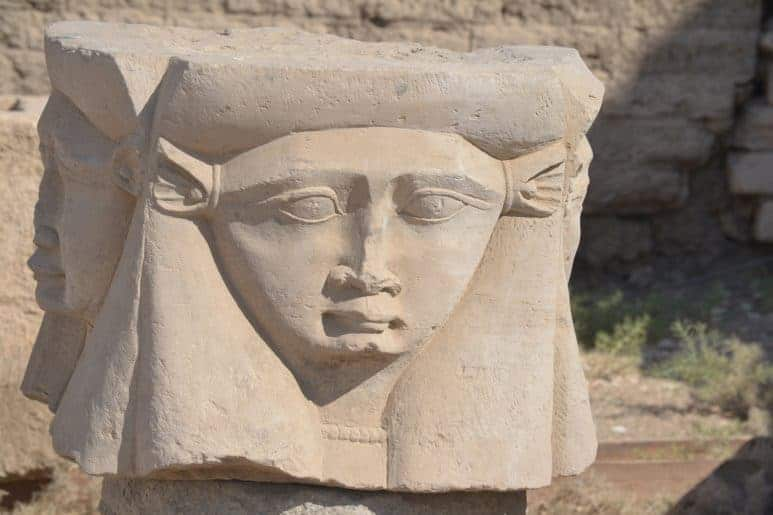 Goddess Hathor was found in many tombs in the Valley of the Queens