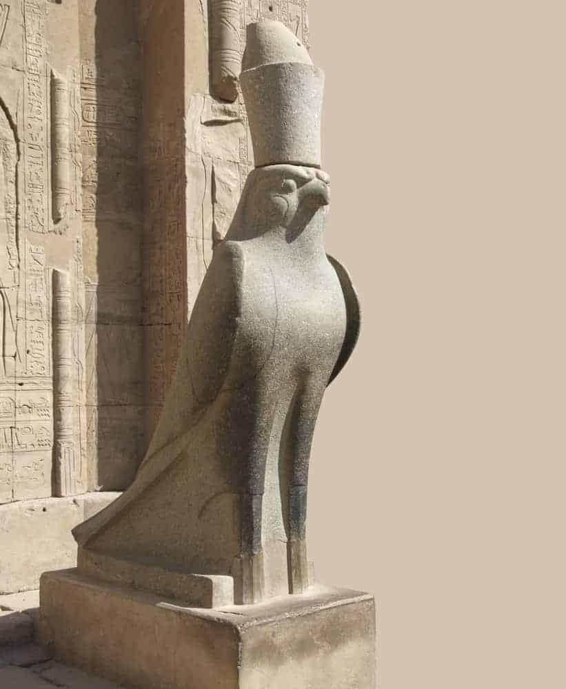 statue around Edfu Temple of Horus
